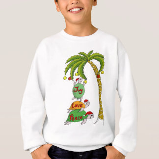 Hawaiian Christmas Turtle Santas Sweatshirt