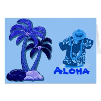 Hawaiian Coconut trees card Greeting Card