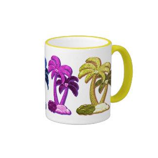 Hawaiian Coconut trees mug Ringer Mug