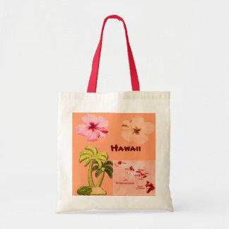 Hawaiian Coconut trees tote bag Budget Tote Bag