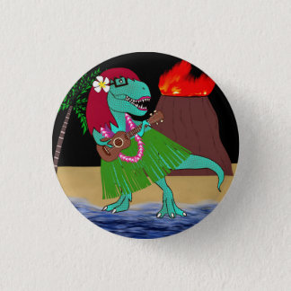 Hawaiian Dinosaur Ukulele 3 Cm Round Badge