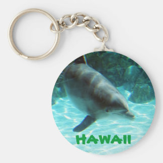 Hawaiian Dolphin collection Basic Round Button Key Ring
