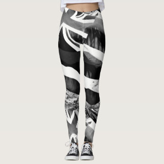 Hawaiian Flag in Monotone Leggings