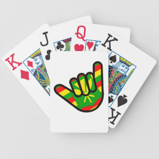 Hawaiian Flag Shaka Bicycle Playing Cards