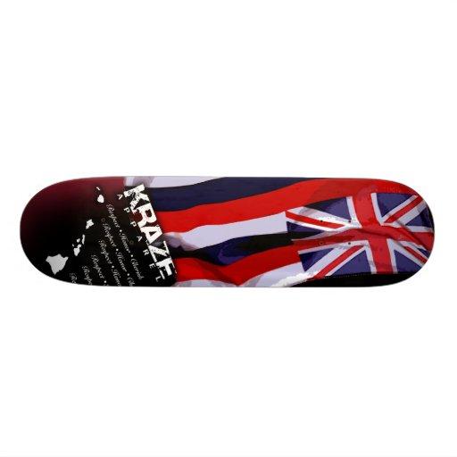 Hawaiian Flag Skateboard