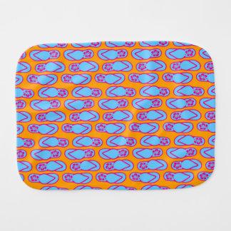 Hawaiian Flip Flops in Blue & Orange Burp Cloths
