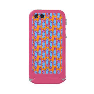 Hawaiian Flip Flops in Blue & Orange Incipio ATLAS ID™ iPhone 5 Case
