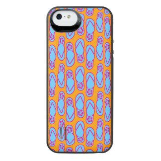 Hawaiian Flip Flops in Blue & Orange iPhone SE/5/5s Battery Case