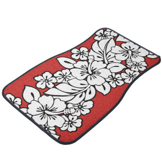 Hawaiian Floral Design Car Mat