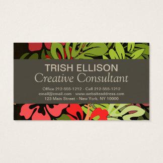 Hawaiian Floral Flower Art Business Card template