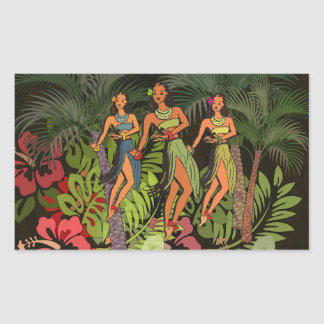 Hawaiian Floral Flower Art Graphic Print Sticker
