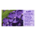 Hawaiian Floral Luau Invitations Customized Photo Card