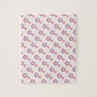 Hawaiian flower pink and purple jigsaw puzzle