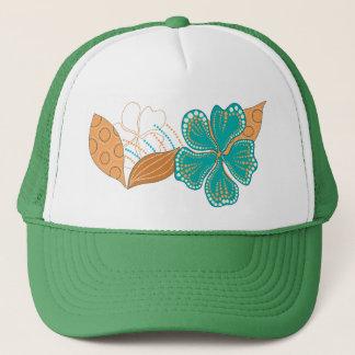 hawaiian flower trucker hat