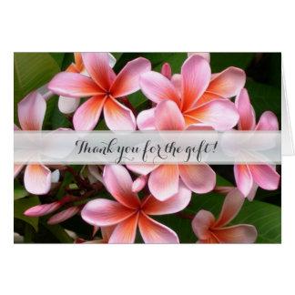 Hawaiian Flowers Wedding Thank You Gift Card