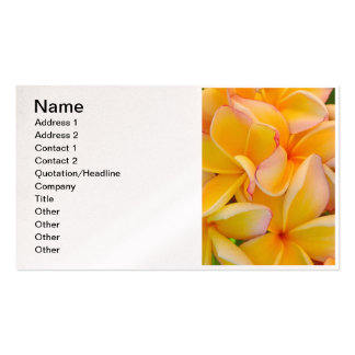 Hawaiian Frangipani Double-Sided Standard Business Cards (Pack Of 100)