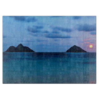 Hawaiian Full Moon Island Kitchen Cutting Board