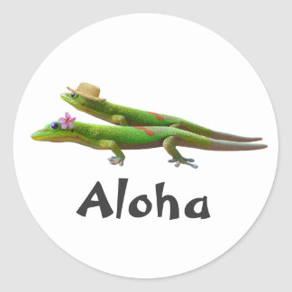 Hawaiian Geckos Classic Round Sticker