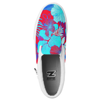 HAWAIIAN GETAWAY STYLE BOLD COLORS FLORAL PATTERN PRINTED SHOES