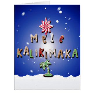 Hawaiian Gingerbread Cookies and Candy for Rose Card
