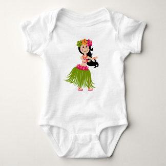 Hawaiian Girl Baby Bodysuit
