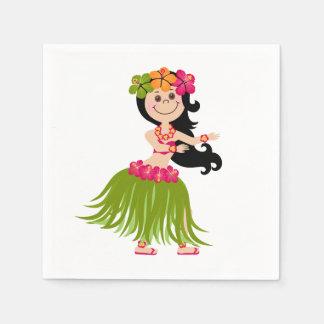 Hawaiian Girl Disposable Napkin