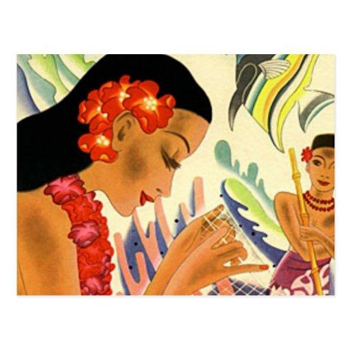 Hawaiian Girl Post Cards