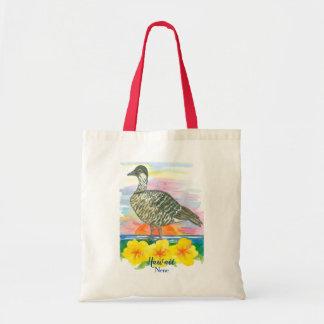 Hawaiian Goose Nene State Bird Watercolor Tote Bag