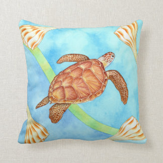 Hawaiian Green Sea Turtle Throw Pillow