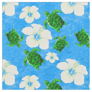 Hawaiian Green Sea Turtles Fabric