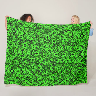 Hawaiian Green Sea Turtles Satin Foulard Mandala Fleece Blanket
