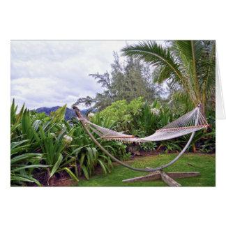 """""""Hawaiian Hammock, Wainiha Bay, Kauai, Hawaii Card"""