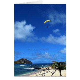 Hawaiian Hang glider Card