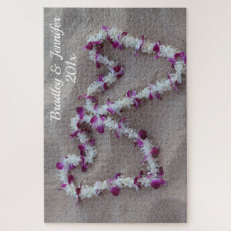 Hawaiian Hearts in the Sand Puzzle