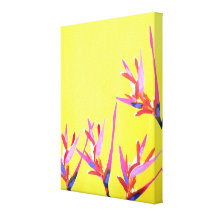 Hawaiian Heliconia Flowers Canvas Painting Gallery Wrapped Canvas