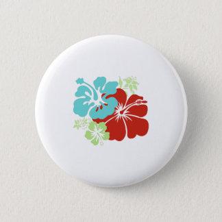 Hawaiian Hibiscus 6 Cm Round Badge