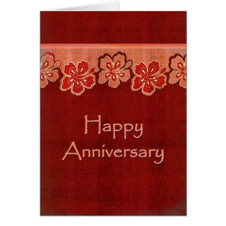 Hawaiian Hibiscus Anniversary Card