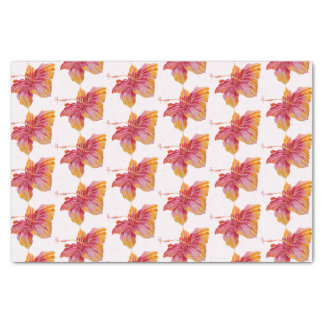 Hawaiian Hibiscus Floral Pattern 10lb Tissue Paper