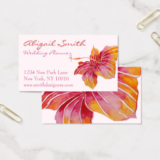 Hawaiian Hibiscus Flower Business Card