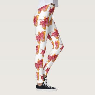 Hawaiian Hibiscus Flower Pattern Leggings