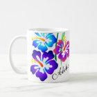 Hawaiian Hibiscus Flowers Aloha Coffee Mug