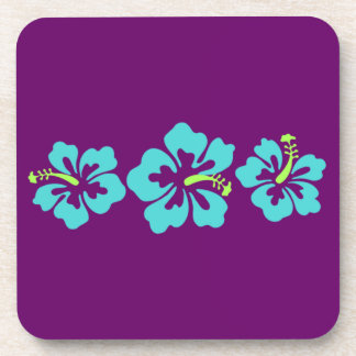 Hawaiian Hibiscus Flowers Drink Coasters