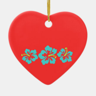 Hawaiian Hibiscus Flowers Christmas Tree Ornaments