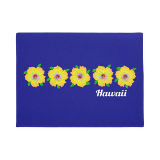 Hawaiian Hibiscus Flowers Hawaii Doormat