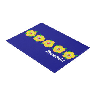 Hawaiian Hibiscus Flowers Honolulu Hawaii Doormat