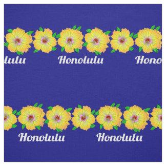 Hawaiian Hibiscus Flowers Honolulu Hawaii Fabric