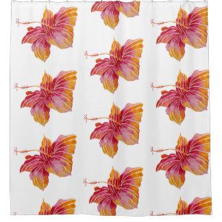 Hawaiian Hibiscus Flowers Shower Curtain