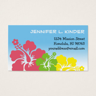 Hawaiian hibiscus flowers tropical mommy card