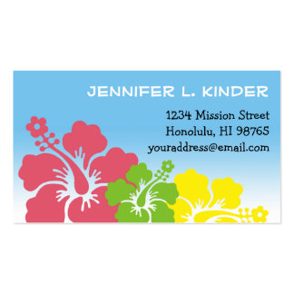 Hawaiian hibiscus flowers tropical mommy card pack of standard business cards