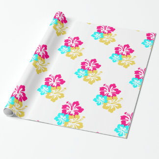 Hawaiian Hibiscus Flowers Wrapping Paper